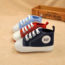 Load image into Gallery viewer, Classic Canvas Newborn Baby Boys Girls First Walkers Toddler Soft Sole Anti-slip Shoes