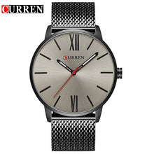 Load image into Gallery viewer, CURREN Luxury Brand Quartz Watch Men's Gold Casual Business Stainless Steel Mesh band Quartz-Watch Fashion Thin Clock male 8238