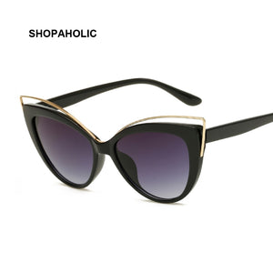 Cat Eye Sunglasses Women Vintage Fashion Butterfly Mirror Sun Glasses Female Retro Summer Style Metal Eyeglasses Luxury