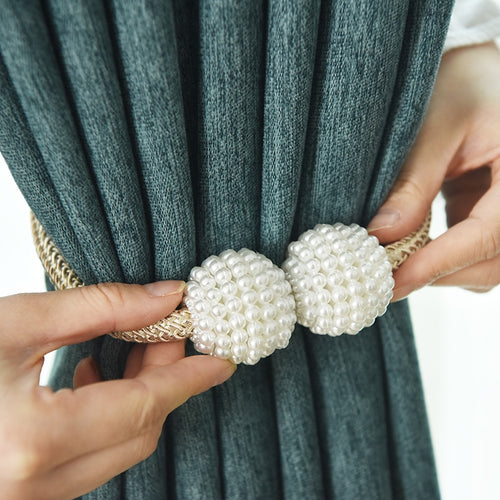 1x Pearl Magnetic Curtain Clip Curtain Holders Tieback Buckle Clips Hanging Ball Buckle Tie Back Curtain Accessories Home Decor