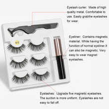 Load image into Gallery viewer, Magnetic Eyelashes Eyeliner Eyelash Curler Set5 Magnet Natural Long Magnetic False Eyelashes With Magnetic Eyeliner SEXYSHEEP