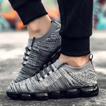 Load image into Gallery viewer, GOODRSSON Casual Shoes Men Full Air Cushion Colorful Sole Flying Woven Sneakers Lightweight Lace Up Outdoor Casual Sport Sneaker