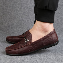 Load image into Gallery viewer, Rommedal Summer lazy loafers slip-on genuine sheep leather moccasins men casual shoes solid wine red black color drive shoes