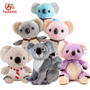 Custom Blue/Pink/Purple/Mini/Giant/ Baby Panda Koala Bear, Christmas Soft Plush Stuffed Koala Toys With Your Logo