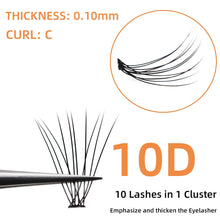 Load image into Gallery viewer, Grafting World Eyelash individual Eyelash  60 pcs 6mm to 15mm Deep Black Russia Volume cilia