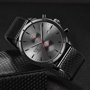 2020 Fashion Mens Watches Top Brand LIGE Business Watch Men Chronograph Stainless Steel Waterproof Analog Quartz Wristwatch Male