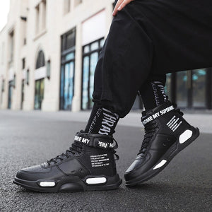 Men Shoes 2019 Winter Mens Basketball Shoes Keep Warm Ankle Boots Men Outoor Sport Sneakers Men Support Dropshipping Size 36-45