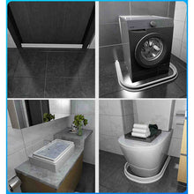 Load image into Gallery viewer, 30mm height Bathroom Water Stopper Water Partition Dry&Wet Separation Floor Barrier Rubber Dam Silicon Water Blocker Dont Slip