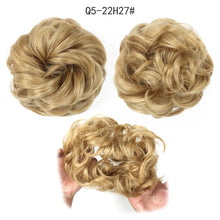 Load image into Gallery viewer, XINRAN Synthetic Bun Extensions Curly Messy Bun Hair Scrunchies Elegant Chignons Wedding Hair Piece for Women and Kids