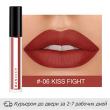 Load image into Gallery viewer, BANXEER Lipgloss Matte 8 Colors Lip Gloss Velvety Lipstick Liquid Matte Waterproof Lip Tint Full & rich Sexy Lip Makeup Cosmetic