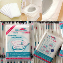 Load image into Gallery viewer, 1 Bag 10 Pcs/lot Disposable Toilet Seat Cover Mat 100% Waterproof Toilet Paper Pad For Travel/Camping Bathroom Accessiories NEWS