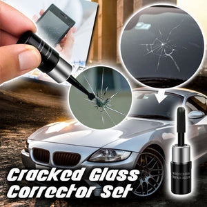 Automotive Glass Nano Repair Fluid Window Broken Glass Nano Repair Tool Set Black Magic Windshield Crack Chip Repair Tool Kit