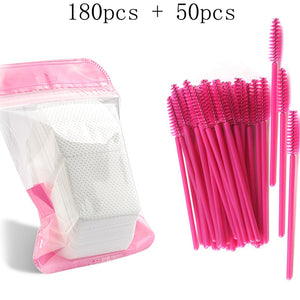 Eyelash Extension Disposable Eyebrow brush Mascara Wand Applicator Spoolers Eye Lashes Cosmetic Brushes Set makeup tools