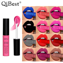 Load image into Gallery viewer, Qibest Brand 34 Colors Waterproof Matte Nude Lipstick Lipkit Pigment Dark Red Black Long Lasting Lip Gloss Women Makeup Lipgloss