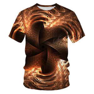 Funny 3D Art T Shirt Men/Women O-neck Short Sleeve Harajuku Tops Tees Summer Casual Fashion Streetwear Novelly 3d Print T shirt