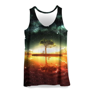 3D Tank Tops Men Colorful Painting Print Sleeveless Vest Summer Bodybuilding Cool Fashion Casual Tops Streetwear