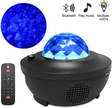 Load image into Gallery viewer, Colorful Starry Sky Projector Blueteeth USB Voice Control Music Player LED Night Light Romantic Projection Lamp Birthday Gift