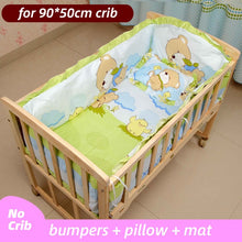 Load image into Gallery viewer, 5PCS Newborn Baby Bedding Set For Girl Boy Baby Crib Bedding Set Baby Crib Bumper Kids Crib Sets Baby Bed Bumper 90x50cm CP01S