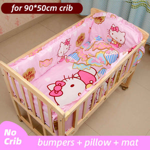 5PCS Newborn Baby Bedding Set For Girl Boy Baby Crib Bedding Set Baby Crib Bumper Kids Crib Sets Baby Bed Bumper 90x50cm CP01S