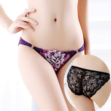 Load image into Gallery viewer, Women's Low Rise Panties Ladies Briefs Thong Female underpants Sexy Lingerie Peony Lace Underwear Intimates Seamless Underwear