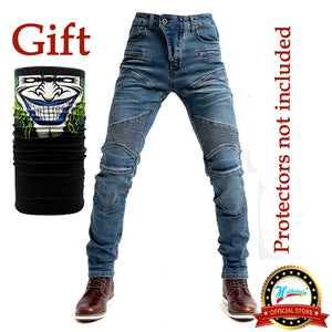 2020 New 718 Motorcycle Pants Men Moto Jeans Protective Gear Riding Touring Motorbike Trousers Motocross Pants Blue/Black Pants
