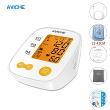 Load image into Gallery viewer, Professional Automatic Digital Arm Blood Pressure Monitor Large Backlight LCD Display Talking Pulse Rate 22-42cm BP Cuff Machine