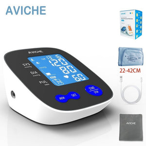 Professional Automatic Digital Arm Blood Pressure Monitor Large Backlight LCD Display Talking Pulse Rate 22-42cm BP Cuff Machine