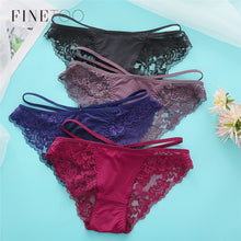 Load image into Gallery viewer, Sexy Lace Panties Women Underwear M-XL Hollow Band Sexy Briefs Female Lingerie 7 Colors Floral Ladies Underpants Girls Panty New