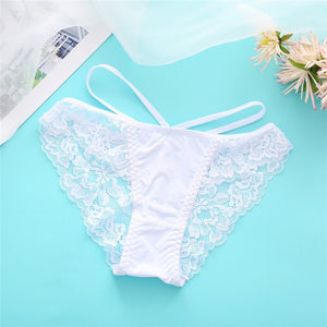 Sexy Lace Panties Women Underwear M-XL Hollow Band Sexy Briefs Female Lingerie 7 Colors Floral Ladies Underpants Girls Panty New