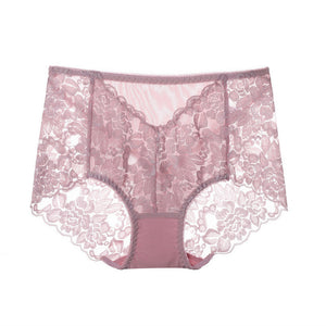 Plus Size Lace Panties M-XXL Women High Waist Briefs Sexy Lingerie Lace Brief  Girls Sexy Panties Knicker 2020 Female Underwear