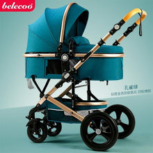Load image into Gallery viewer, Belecoo high landscape baby stroller 2 in 1 stroller two way baby pram portable newborn pram folding kid car send gifts