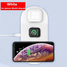 Load image into Gallery viewer, Baseus 3 in 1 Qi Wireless Charger For iPhone 11 Pro Xs Max Fast Charging For Airpods pro Wireless Charge Pad For iWatch 5 4 3 2