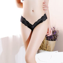 Load image into Gallery viewer, luckymily Sexy Women Bowtie Panties Female Underwear Floral Lace Women Panties Breathable Ladies Low Waist Transparent Briefs