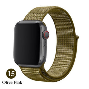 Sports strap for apple band 42mm with iwatch 38mm 44mm 40mm correas Apple Watch 5 4 3 bracelet bracelet nylon 2/1