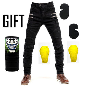 2019 New Khaki / Black Blue Motorcycle Pants Men Moto Jeans Zipper Protective Gear  Motorbike Trousers Motocross Pants Moto Pant