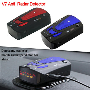 Car Vehicle Radar Detector Auto 360 Degree Detection V7 English/Russian Speed Voice Alert Warning 16 Band LED Display