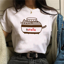 Load image into Gallery viewer, Nutella Kawaii Print T Shirt Women 90s Harajuku Ullzang Fashion T-shirt Graphic Cute Cartoon Tshirt Korean Style Top Tees Female