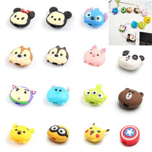 Load image into Gallery viewer, Cute Cartoon Phone USB cable protector for iphone cable chompers cord animal bite charger wire holder organizer protection