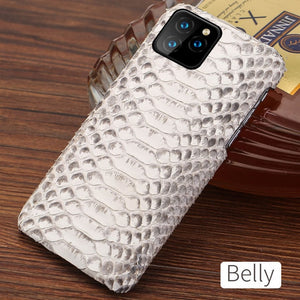 Genuine Python Leather Phone Case For iPhone 11Pro 11 Pro Max X XS XS XR 5s 5 6 6s 7 8 Plus SE 2 2020 New snakeskin luxury Cover