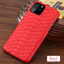Load image into Gallery viewer, Genuine Python Leather Phone Case For iPhone 11Pro 11 Pro Max X XS XS XR 5s 5 6 6s 7 8 Plus SE 2 2020 New snakeskin luxury Cover