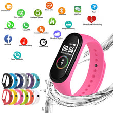 Load image into Gallery viewer, M4 Smart Silicone Watchs Sport Wristbands For Women LED Screen Fitness Traker Bluetooth Waterproof Lady Watchs Sports Brand