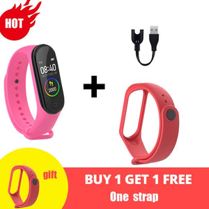 M4 Smart Silicone Watchs Sport Wristbands For Women LED Screen Fitness Traker Bluetooth Waterproof Lady Watchs Sports Brand