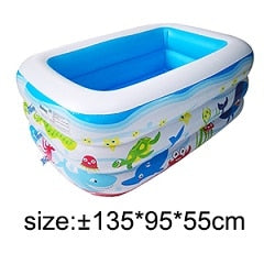 Kids inflatable Pool High Quality Children's Home Use Paddling Pool Large Size Inflatable Square Swimming Pool for baby
