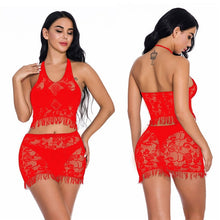 Load image into Gallery viewer, Fantasias Sexy Lace Lingerie Sexy Hot Erotic Costumes Women's Transparent Sex Underwear Nightwear Female Temptation Sex Clothes