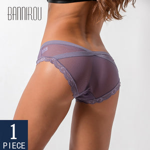 1 Pcs Underwear For Woman Sexy Lace Panties Briefs Low-Rise High Quality Female Panties Woman Underwear Cure Sexy S-XL BANNIROU