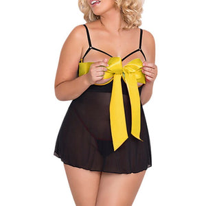 5XL Plus Size Lingerie Women Sexy Mesh Transparent Underwear Sleepwear Female Hot Erotic Babydoll Patchwork Lingerie G-String