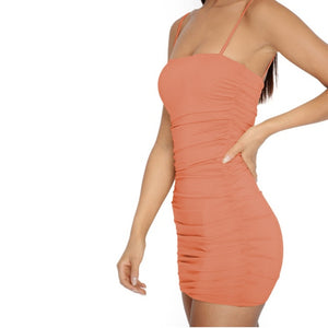Solid Mini Sexy Dress Sheath Summer Sexy Women Dress Off Shoulder Backless Club Party Sexy Wrap Dress Spaghetti Strap Dresses