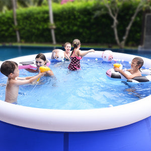 summer round bracket inflatable swimming pool for family large outdoor PVC pool adult child home swimming pool