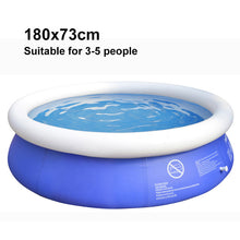 Load image into Gallery viewer, summer round bracket inflatable swimming pool for family large outdoor PVC pool adult child home swimming pool