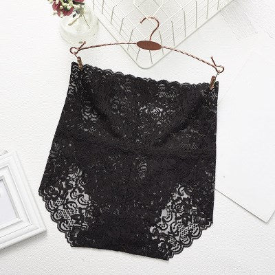 Jeseca Hot Ladies Underwear Woman Panties High Waist Transparent Cotton Breathable Sexy Lingerie Female Fashion Lace Cute Briefs